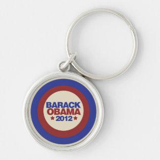 Barack Obama 2012 Silver-Colored Round Key Ring