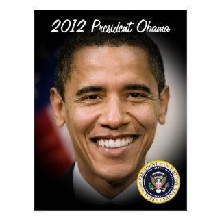 Barack Obama 2012 US President Post Card
