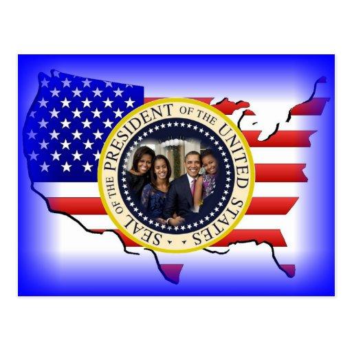Barack Obama 2012 US President Postcard
