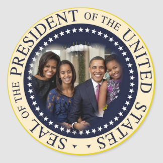 Barack Obama 2012 US President Round Sticker