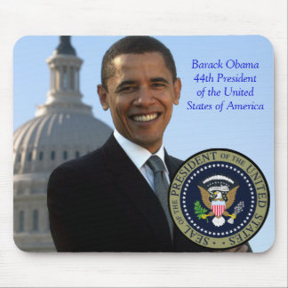 Barack Obama 44th President Gold Seal Mouse Pad