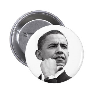 BARACK OBAMA, 44TH PRESIDENT OF THE UNITED STATES 6 CM ROUND BADGE