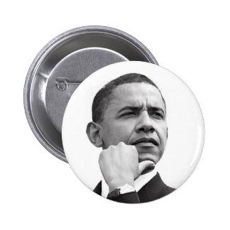BARACK OBAMA, 44TH PRESIDENT OF THE UNITED STATES 6 CM ROUND BADGE
