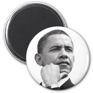 BARACK OBAMA, 44TH PRESIDENT OF THE UNITED STATES 6 CM ROUND MAGNET
