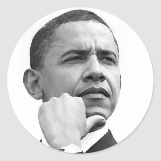 BARACK OBAMA, 44TH PRESIDENT OF THE UNITED STATES CLASSIC ROUND STICKER