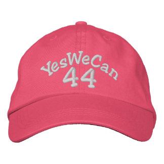 Barack Obama 44th President RED Embroidered Hat
