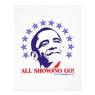Barack Obama All Show No Go Personalized Flyer