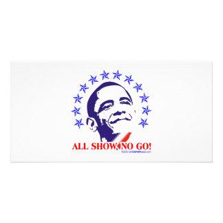 Barack Obama All Show No Go Photo Cards