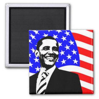 Barack Obama American Flag Magnet