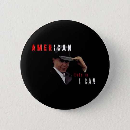 BARACK OBAMA AMERICAN ROUND BUTTON