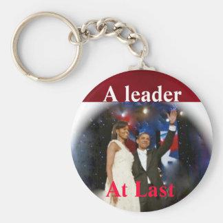 Barack Obama America's  Leader Basic Round Button Key Ring