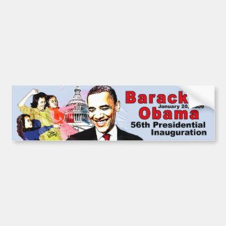 BARACK OBAMA  AND FAMILY BUMPER STICKER