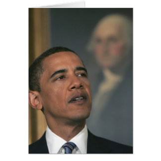 Barack Obama announce his intent to nominate Greeting Card