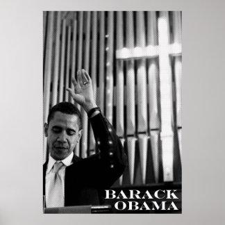 Barack Obama B W Posters