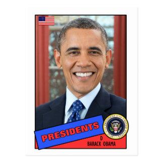 Barack Obama Baseball Card Postcard