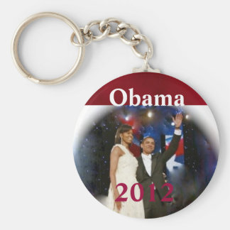 Barack Obama Basic Round Button Key Ring