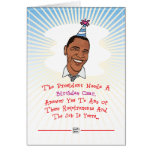 Barack Obama Birthday Card