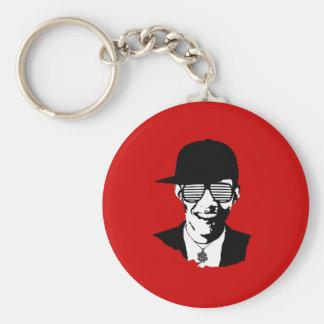 Barack Obama Bling Basic Round Button Key Ring