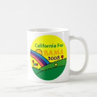 Barack Obama California Rainbow Basic White Mug