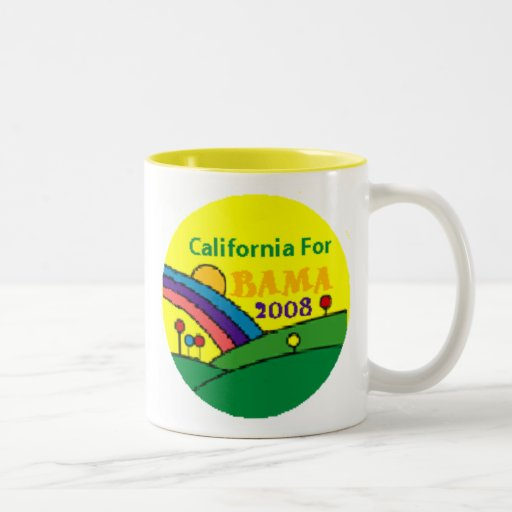 Barack Obama California Rainbow Coffee Mug