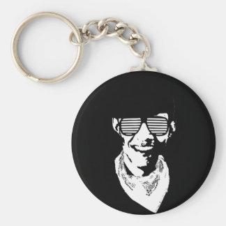 Barack Obama Cap Bandana Glasses Basic Round Button Key Ring