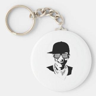 Barack Obama Cap Bandana Glasses Key Ring