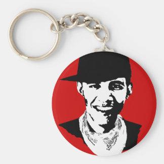 Barack Obama Cap Bandana Basic Round Button Key Ring