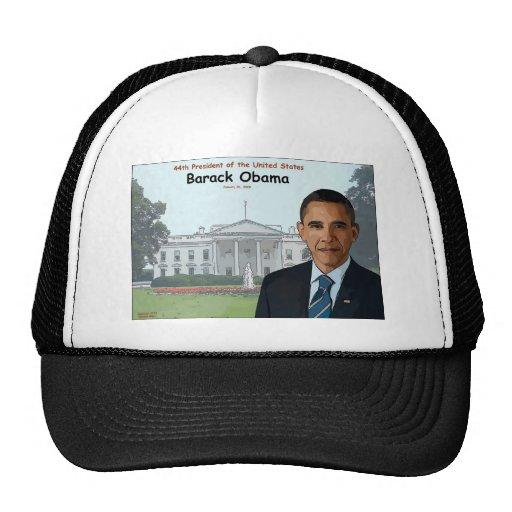 Barack Obama Cartoon Mesh Hat