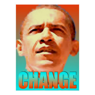 Barack Obama Change - Digital Art Print