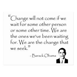 Barack Obama - CHANGE merchandise Postcard
