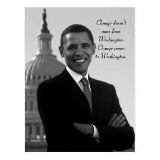 Barack Obama Change Postcard