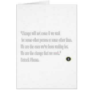 Barack Obama Change quote Card