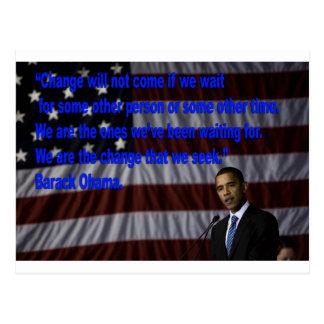 Barack Obama Change quote Post Cards