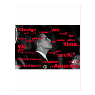 Barack Obama Change quote Post Cards