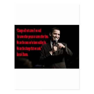 Barack Obama Change quote Post Card