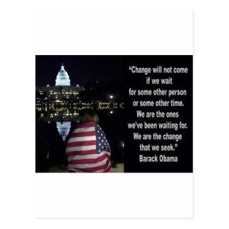 Barack Obama Change quote Postcards