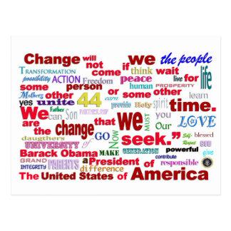 Barack Obama Change quote Postcard