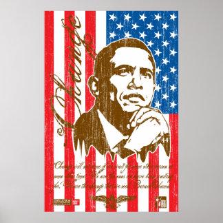 Barack Obama - Change (vintage) Poster
