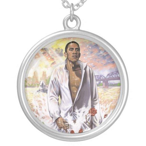 Barack Obama Charm Necklace