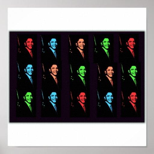 Barack Obama Collage Poster