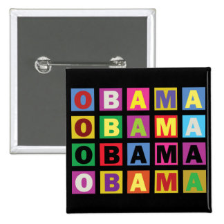 Barack Obama Colorful Rainbow 15 Cm Square Badge