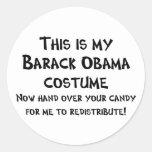 Barack Obama Costume Sticker