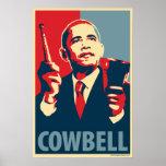 Barack Obama - Cowbell: OHP Poster