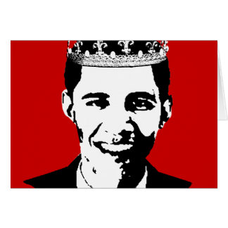 Barack Obama Crown and Cross Greeting Card