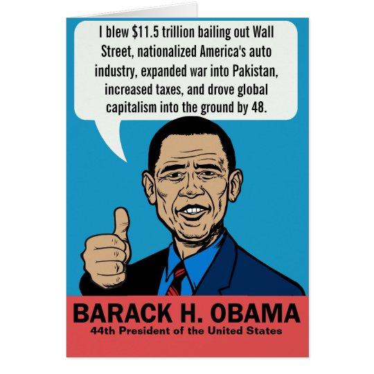 Barack Obama Customisable Card