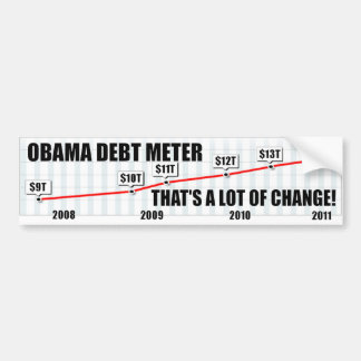 Barack Obama Debt Meter Bumper Sticker