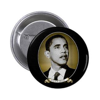 Barack Obama Dollar Portrait 6 Cm Round Badge