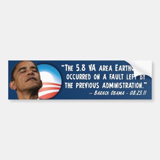 Barack Obama - Earthquake Bumper Sticker