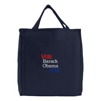 Barack Obama Embroidered Tote Bag