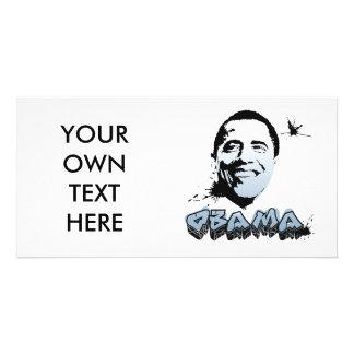 Barack Obama Face Custom Photo Card